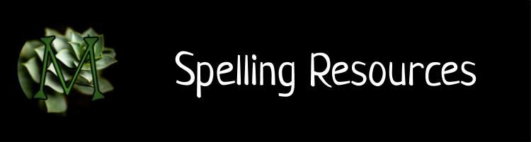 Spelling Resources Banner
