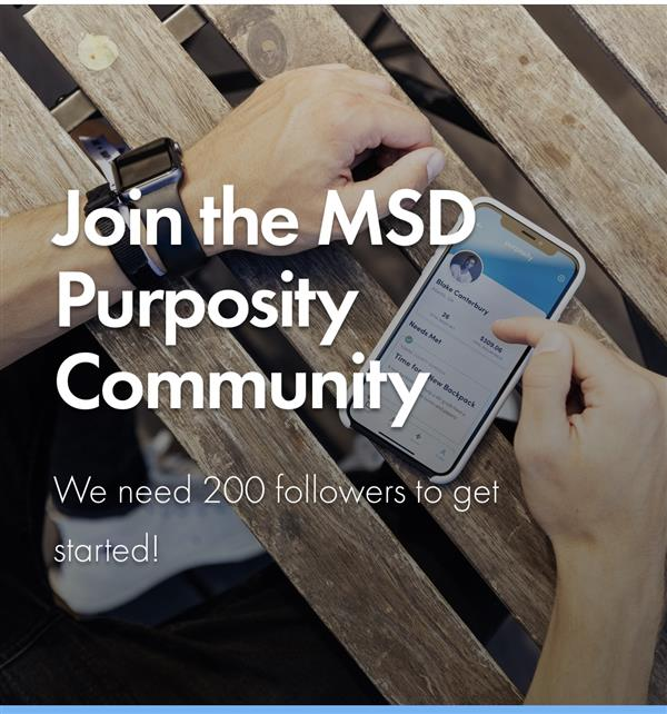 Join the MSD Purposity Community